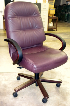 HON 2191 Pillow Soft Exec. High Back Chair Burgundy Leather (Reconditioned)